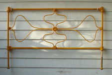 Old Antique Cast Iron Bed Wrought Floral Incomplete Broken Art Nouveau Victorian