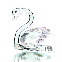 H&D Crystal Swan Figurines Animal Paperweight Home Decor Wedding Souvenirs Gift