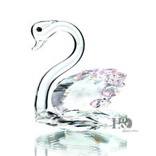 H&d 3d Clear Crystal Paperweight Swan Figurines Glass Wedding Ornaments Gift