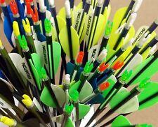 "Easton Genesis 1820 Arrows w/ 3"" Vanes w/Nock and Points 1/2 Dz - color choices"