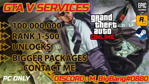 Grand Theft Auto V Online MONEY+XP HACK PC only: GTA$100M +any lvl 1-500 & More!