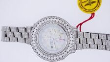 New Breitling Super Avenger Watch Custom Iced Out 26.30 Cts Sparkling  Diamonds