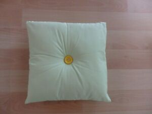 Handmade Decorative Sage Green Pillow with Colorful Buttons 13 in. by 13 inc.