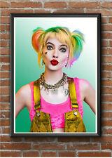 HARLEY QUINN birds of prey A4 Movie Poster Print Wall Art Prints New Film Cinema