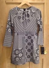 Zara Polyester Mini Dresses Round Neck