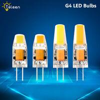 G4 3W/6W LED Crystal Silicone Lamp Light COB Warm/Cool Bulb 12V AC/DC 1/4/8 Pcs
