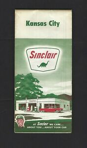 1963 Sinclair Kansas City KS MO Road Map At Sinclair We Care About You