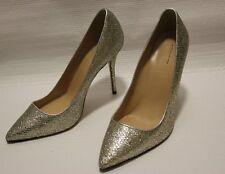 J Crew Roxie Mermaid Glitter Pumps Heels 7.5 Weding Shoes Silver $279 e0784 OMG