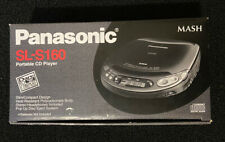 Vintage Panasonic Portable CD Player Model SL-S160 Black 1995 Made In Japan NIB