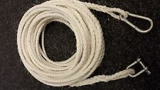 100FT OF NEW 8MM ROPE ANCHOR BOAT MOORING WITH SNAP HOOK & SHACKLE