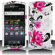 W Purple Flower Case Cover Sony Ericsson Xperia Play