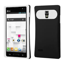 For LG Optimus L9 P769 TPU Candy HYBRID GLOW Case Phone Cover Black White