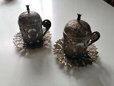 Turkish Coffee Cup And Saucer X2