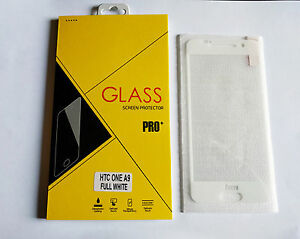 Film Protection Ecran Vitre/Verre Trempé/Blindé HTC ONE A9 TOTAL/INTEGRAL BLANC