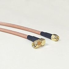 """SMA male to SMA male right angle pigtail cable RG142 50cm 20"""" high quality NEW"""