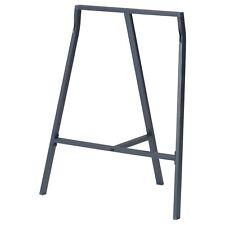 IKEA ALL PURPOSE LERBERG TRESTLE TABLE Metal Stand Legs,70x60 cm,Grey,Brand New