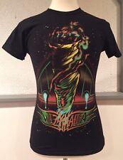 Wiz Khalifa Joint Spliff Weed Neon Black T Shirt Rapper Rap Small