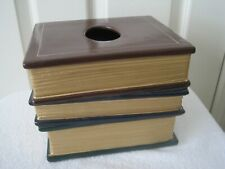 Tissue Box Metal shape of books  - $55.00