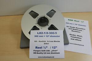 """Halbzoll Leerspule 12"""" f. Mehrspurmaschinen, Ampex, Sony -NEU- Nr.LX2-1/2-5"""