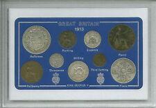 1913 Go Great British Vintage Antique Coin Set (105th anniversaire cadeau de naissance Année)