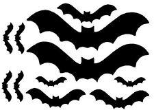 BAT STICKERS, 11 mix size bat vinyl Stickers. car, LAPTOP, wall, WINDOW, tile.
