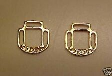 RDLC Reversible LARGE Halter Corners in Traditional 1:9 Model Scale GOLD PLATED