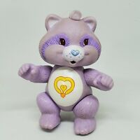 Vintage Care Bears Cousin Poseable Figure Bright Heart Raccoon 1985 Kenner