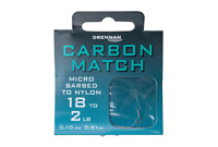Drennan Carbon Match Micro Barbed Hooks to Nylon