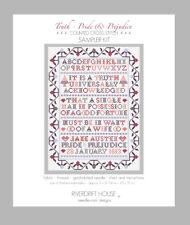 Pride and Prejudice Jane Austen SAMPLER KIT Counted Cross Stitch Riverdrift