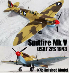 WWII Spitfire MK.V trop USAF 2FS 1943 1/72 finished plane Easy model