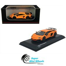 Kyosho 1:64 Lamborghini Aventador SV Orange Diecast Model