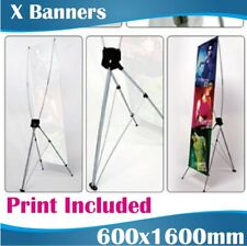 X Banners Tension banners Banner Stands pull up banners 600x1600mm with Print