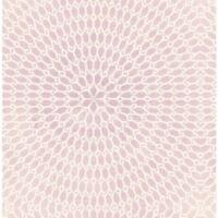 Wallpaper Designer Pale Lavender & Cream Large Circle Starburst on Faux
