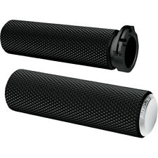 Arlen Ness Chrome Knurled Fusion Hand Grips for 1984-2015 Harley Dual-Cable