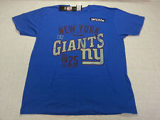 """Team Apparel Tee Shirt """"NY Giants 1925"""" in Blue - Large - NWT R$28.00"""