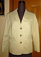 Women's short Blazer jacket GAP size 6 fitted light tan / Khaki color lined EUC