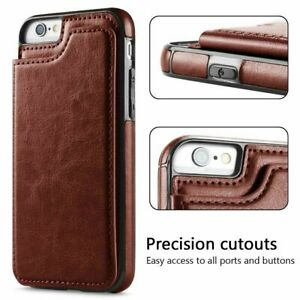 For Samsung S20 S10 S9 S8 Phone Case - Leather Shockproof Wallet Flip Card Case