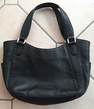 DEBENHAMS COLLECTION Black, Genuine Leather Handbag With Braided Detailing!
