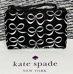 NWT Kate Spade Medium Double Zip Wristlet JAE Elegant Bow