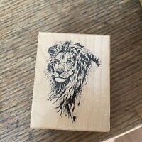 Vintage Rubber Stamp Lion Wood PSX 1990 D-410