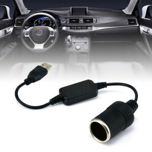 Car Cigarette Lighter Socket 5V To 12V Converter Adapter Wired Controller Plug