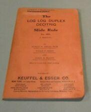 1939 Keuffel & Esser K&E Log Log Duplex Decitrig Slide Rule Manual No. 4081