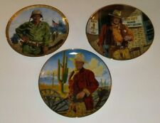 lot of 6 Franklin Mint John Wayne Plates western & military Free Ship
