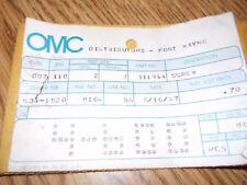 Evinrude Johnson OMC Screw, #0311944, #311944    1 per sale