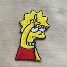 LISA SIMPSON EMBROIDERY IRON ON PATCH BADGE