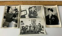 Lot of 4 Original WWII Photos USAAF Pilots Aircrew Uniform Aircraft Personnel