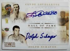 Clyde Lovellette & Dolph Schayes dual signed 2011 HOF Induction auto card #47/50