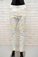 Pantalone Donna CARLA FERRONE Taglia 48 Pants Woman Jeans Fantasia Floreale