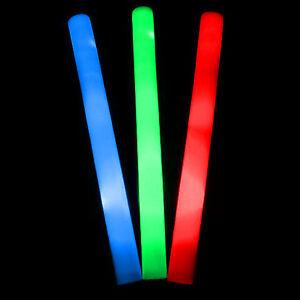 "1x 18"" Foam LED Baton - Safe Fun Party Rave Festival Kids Lightsabre Saber Sword"