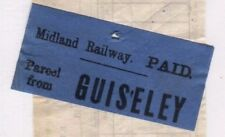 MS2956 1891 GB Midland RAILWAY PARCEL STAMP *Guiseley Station* Way Bill NEW FIND